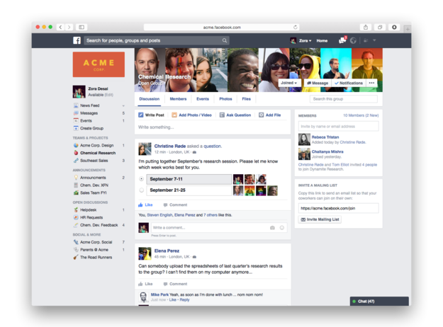 Facebook will soon release it's long-awaited Facebook at Work business tool, according to latest reports.