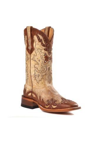 fd7fd266c5b Johnny Ringo Tan And Brown Studded Boots - Urban Western Wear ...