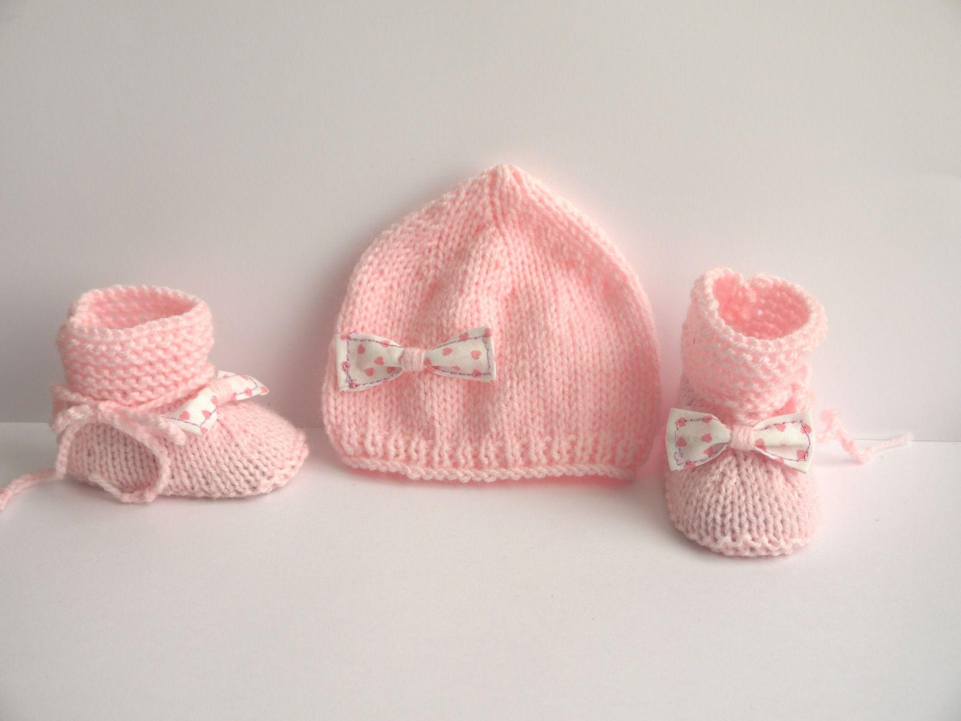Nouveau-né bébé garçon//fille chapeau blanc rose bleu tricot bébés cap 0-3 mois