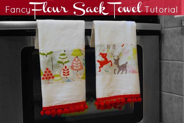 No Sewing Machine Required: DIY Fancy Flour Sack Tea Towel Tutorial | The  Borrowed Abode