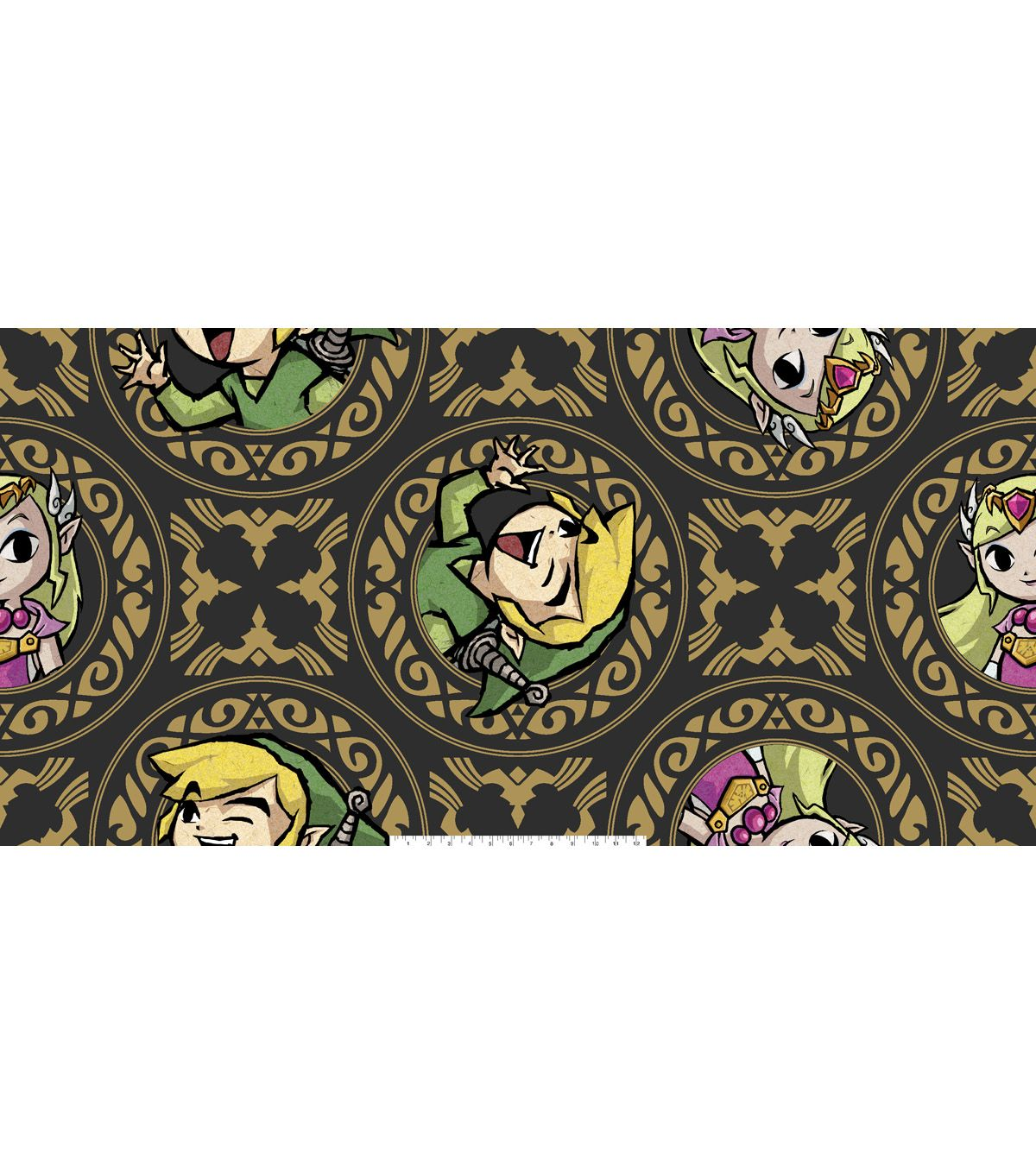 Nintendo zelda fleece fabric