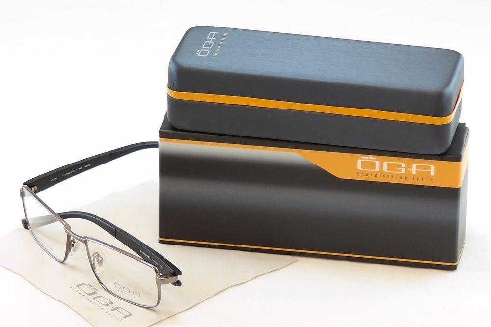 Authentic OGA Morel Eyeglasses Frame 74120 GG033 Gunmetal Metal Plastic France #OGA