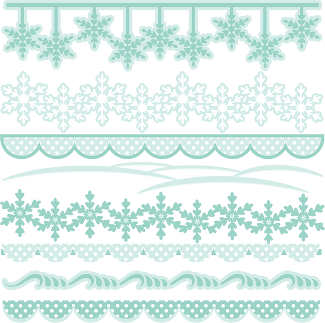 Winter Borders SVG cutting files winter svg cuts winter border ...