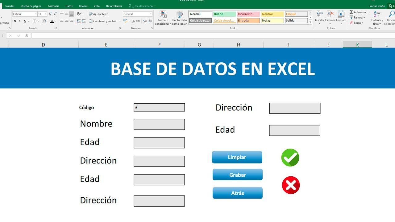 Como Crear Una Base De Datos En Excel Libros De Informatica Diseños De Curriculum Vitae Base De Datos