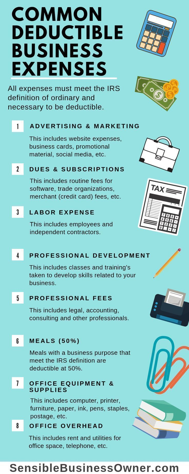 Blog Business expense, Bookkeeping business, Small