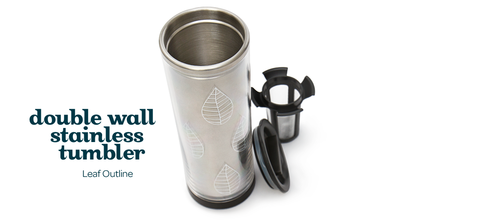 Wall Travel Stainless Double Tumblerleaf OutlineStylish Mug wN8nm0