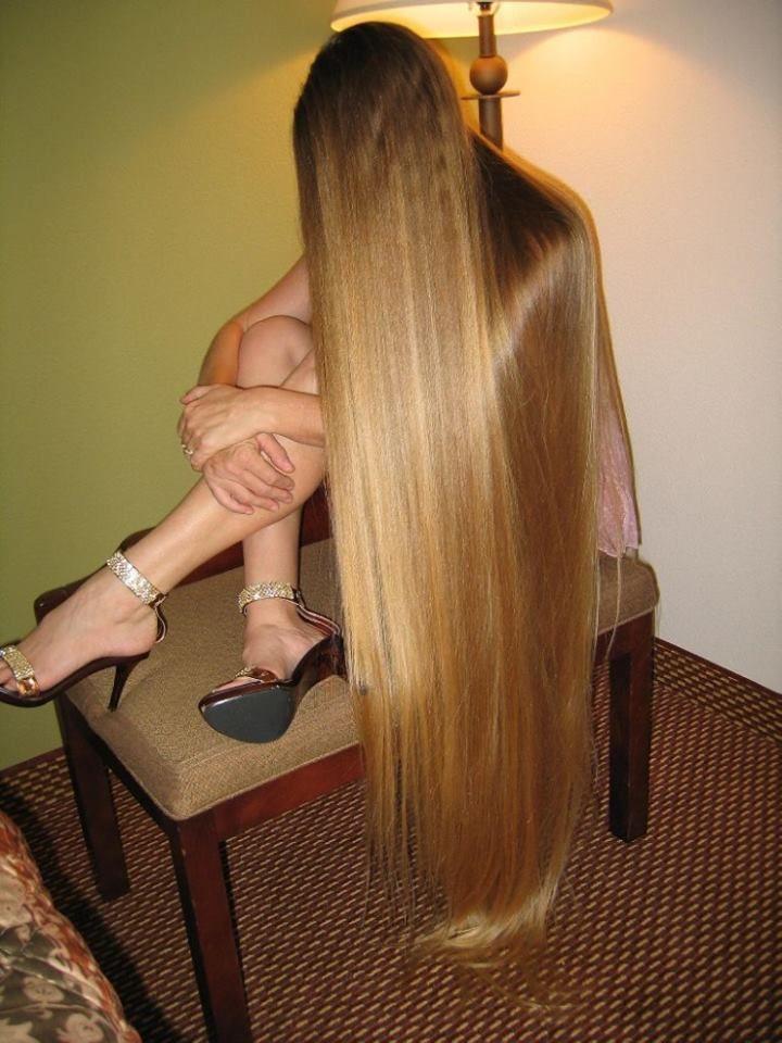sexy lange blonde Haare