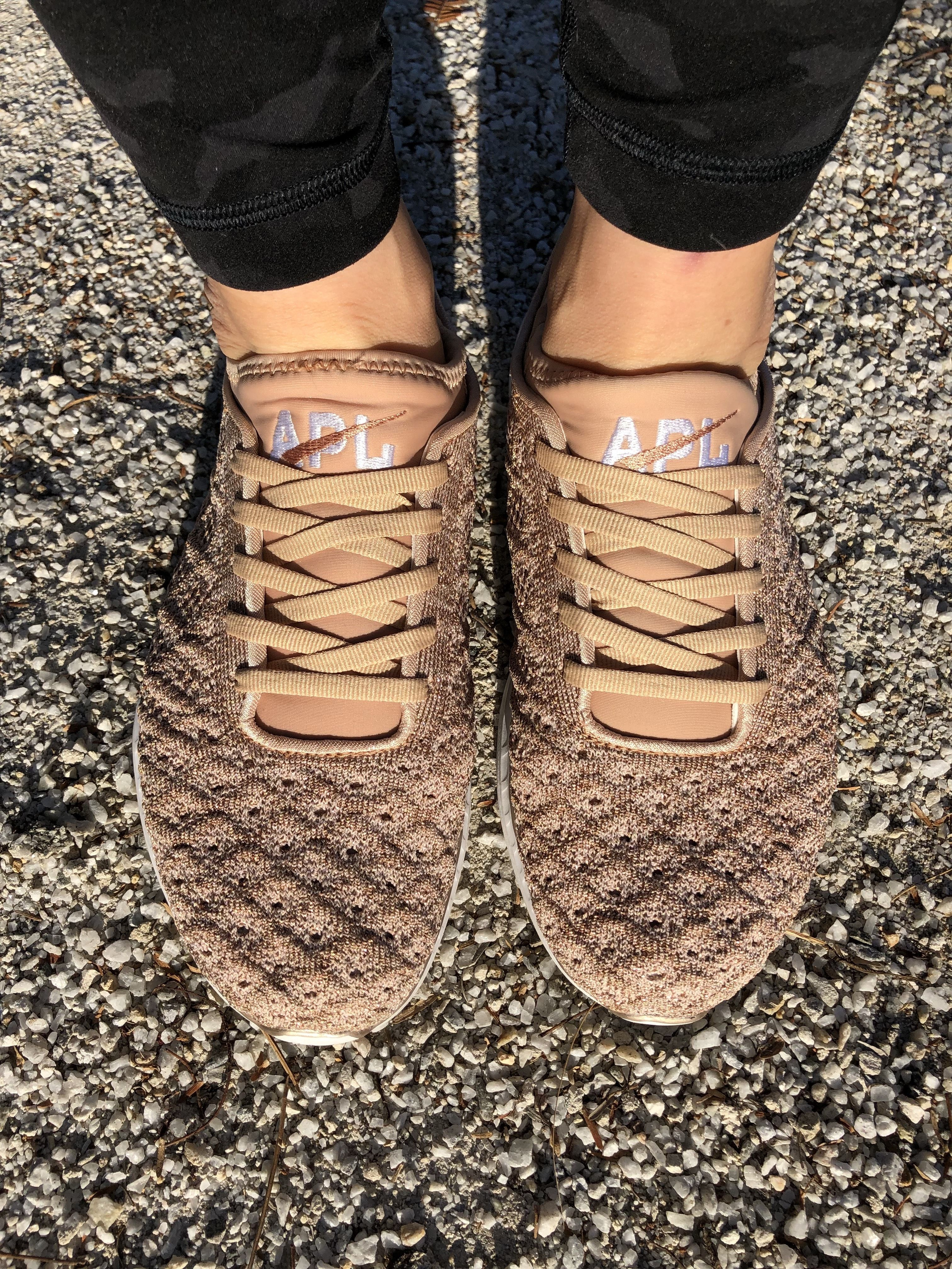 f0774ee6cdd2 Love these rose gold APL running shoes