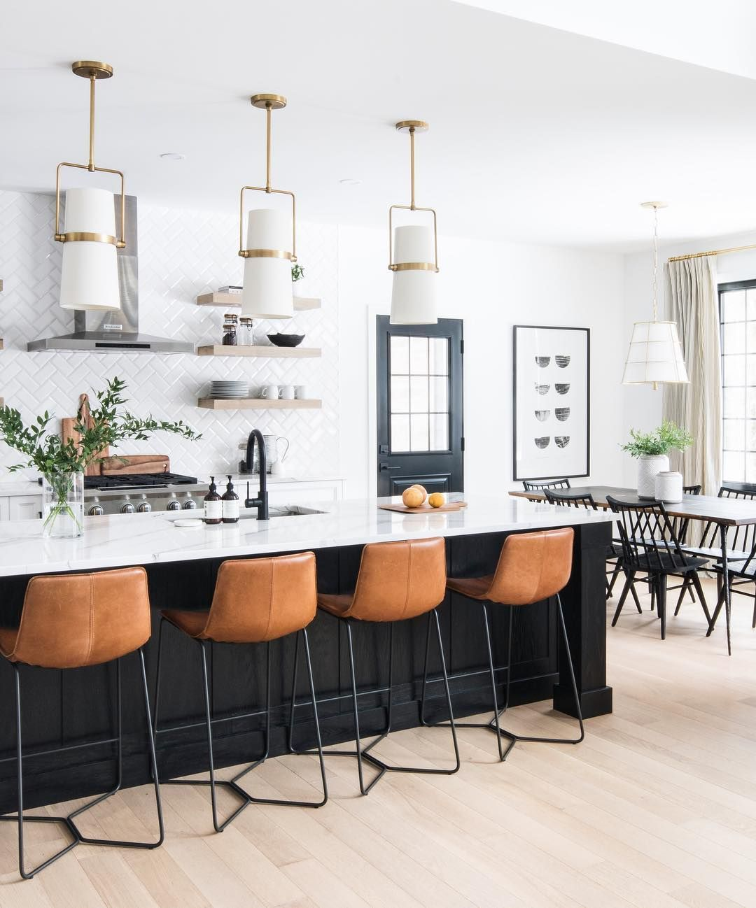 Leclair Decor On Instagram Sunny Views From The Leclaircarp Kitchen Eat In Table Chairs Pendant And Art From Home Kitchens Home Decor Inspiration Home