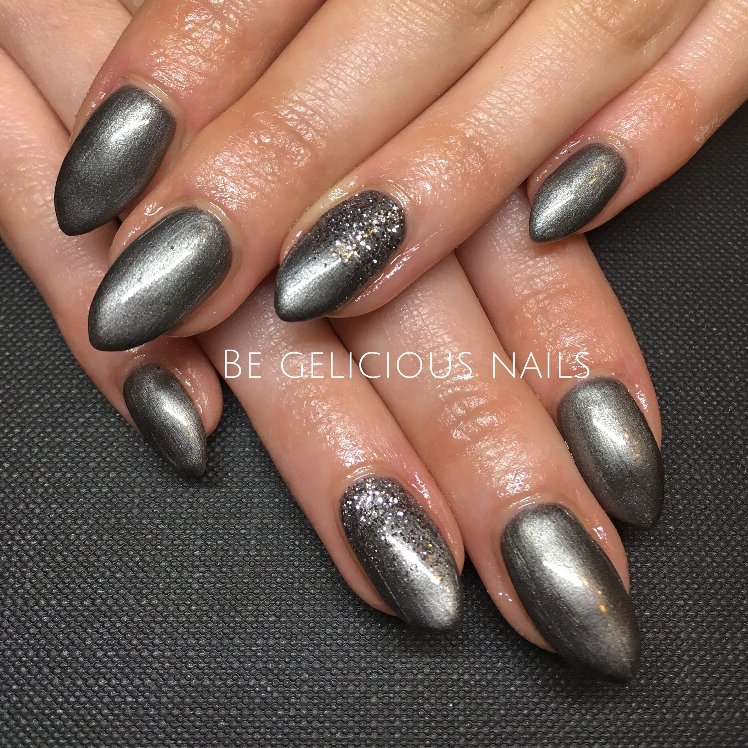 Calgel nails gel nail art nail design metallic grey glitter calgel nails gel nail art nail design metallic grey glitter prinsesfo Gallery