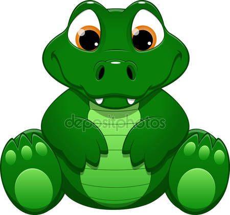 Ilustracin del vector de cocodrilo de dibujos animados  Vector