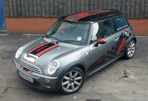 2001 and up Mini Cooper Custom Vinyl Decal Graphics Racing Style Side Stripes