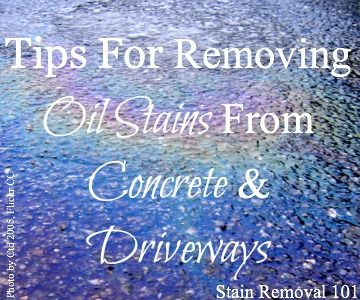Removing Oil Stains From Concrete Tips Amp Instructions