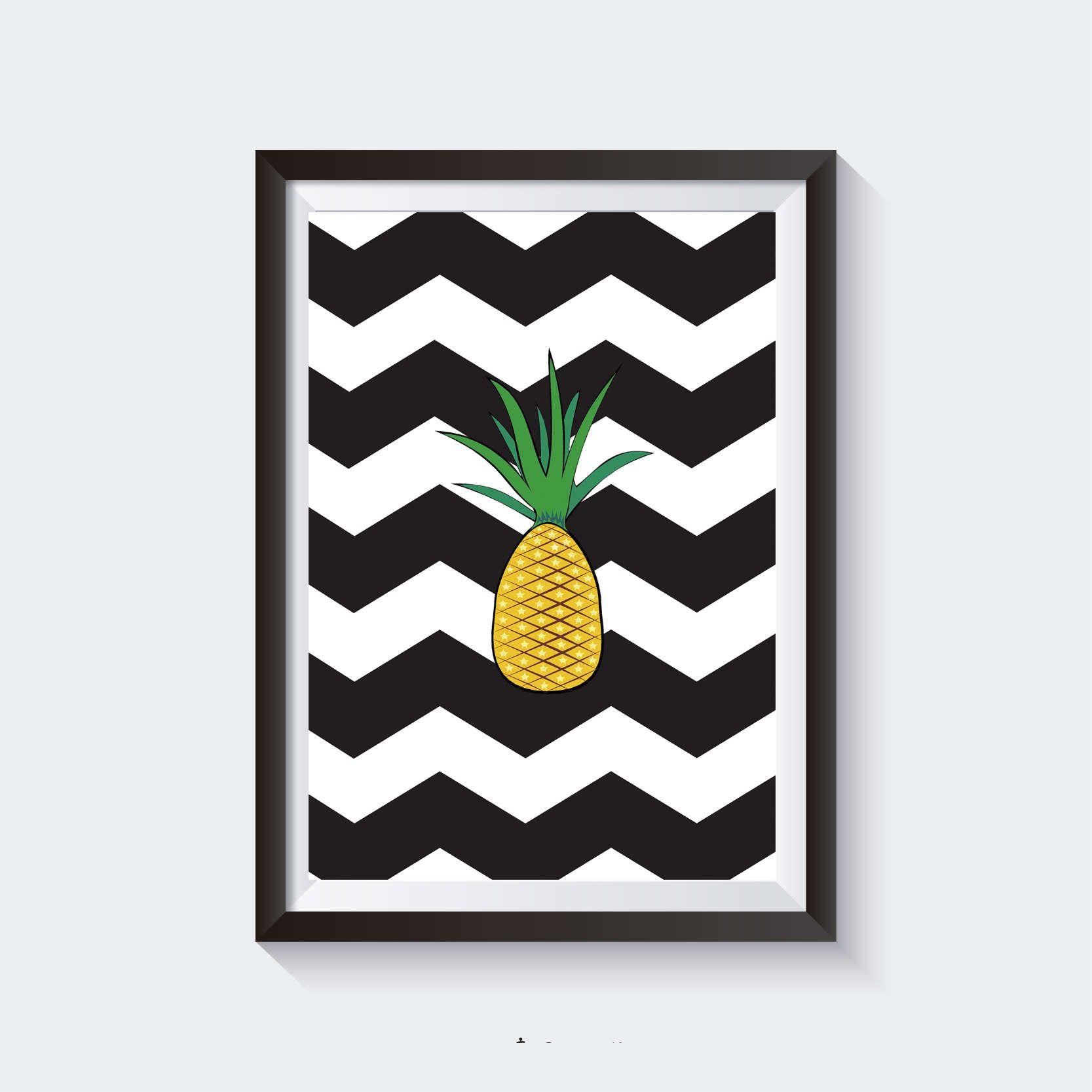Quadro Abacaxi Imprimir Pinterest Quartos Quadros  ~ Imagens Para Quadros De Quarto Para Imprimir Abacaxi