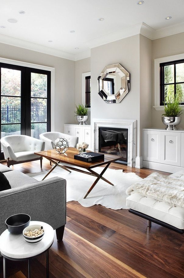 Living Room Clear Shades Wooden Floor Living Room Design
