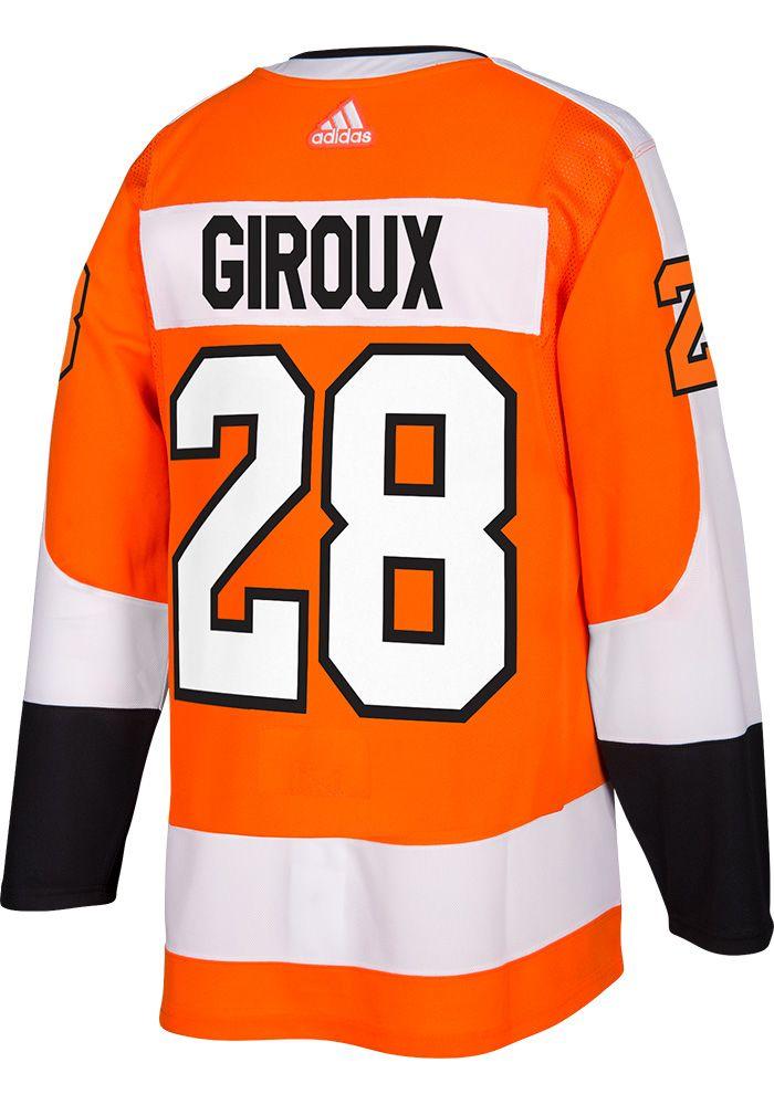 e68e7ad88 Adidas Claude Giroux Philadelphia Flyers Mens Orange 2017 Home Hockey Jersey,  Orange, 100% POLYESTER, Size 46