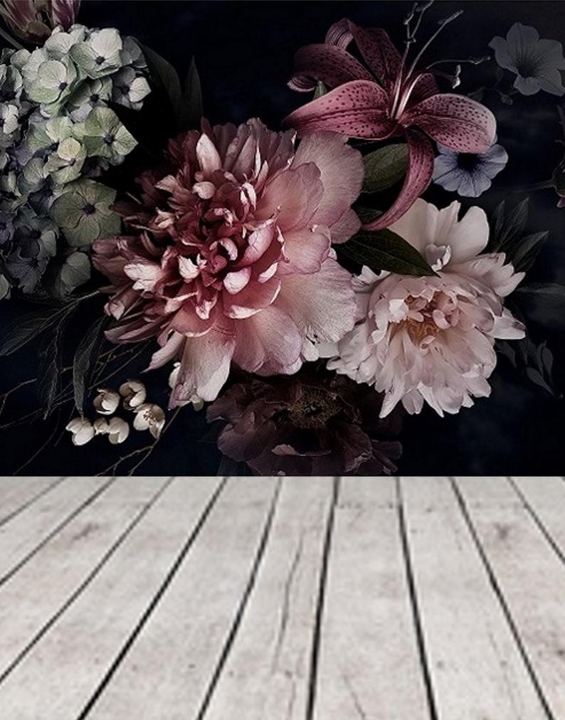 Peel N Stick Wall Paper Dutch Floral Wall Mural Remove Dark Floral Wallpaper Peel Stick Wall Mural Blush Pink Peony Wallpaper Flower 162 Floral Wallpaper Peony Wallpaper Pink Peonies Wallpaper