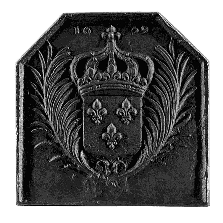 Plaque De Cheminee Fonte Dommartin Fleurs De Lys 1659 Gris Fonte L 700 Cm X H Plaque Cheminee Fleur De Lys Et Fonte