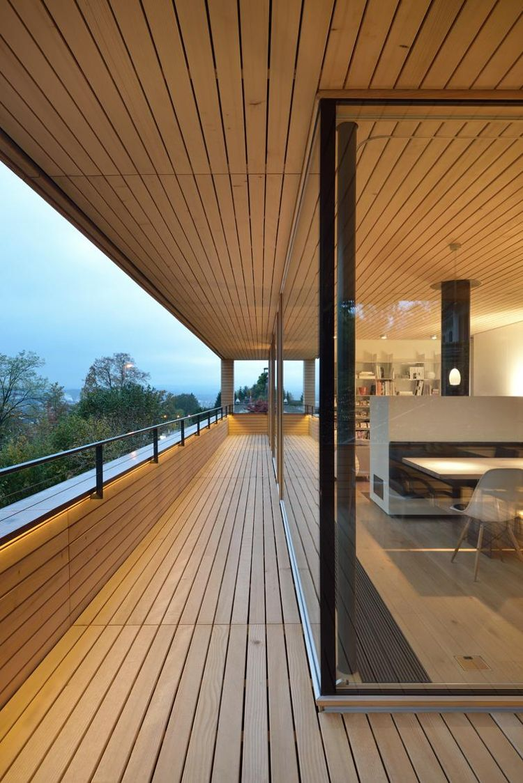Welches Holz Fur Terrasse Tipps Kiefer Holzdecke Moderne Architektur Terrassentueren