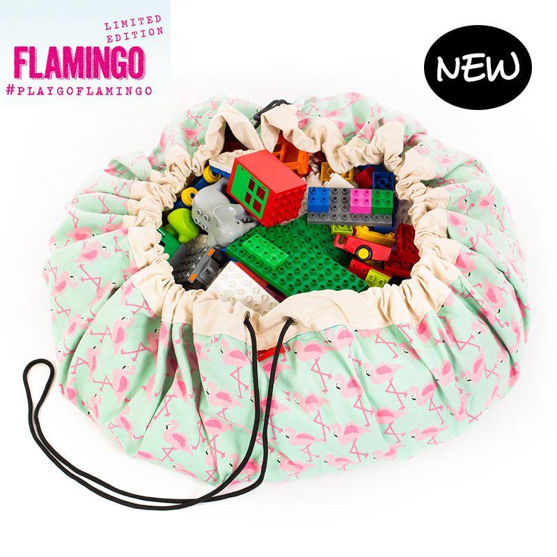 Opbergzak Flamingo - PLAY&GO - https://www.livingdesign.be/nl/producten/detail/opbergzak-flamingo-play-and-go