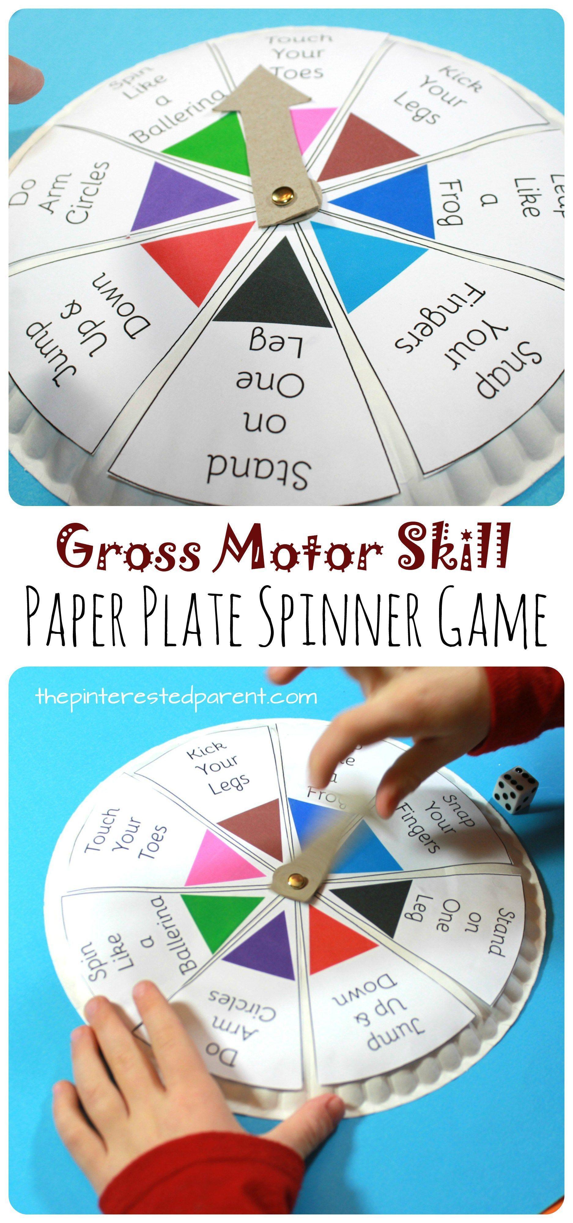 Spin, Roll & Count Gross Motor Skill Game | Pinterest | Gross motor ...