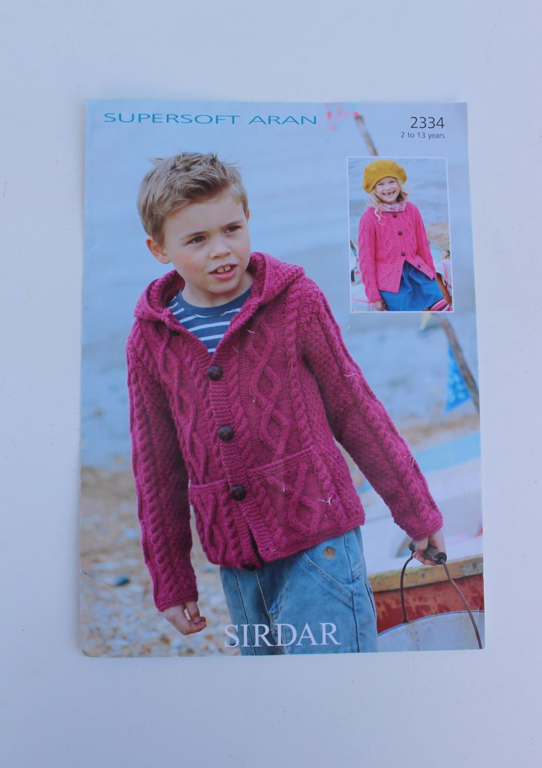 Sirdar Knitting Pattern 2334, Child\'s Cardigan Pattern, Hooded ...