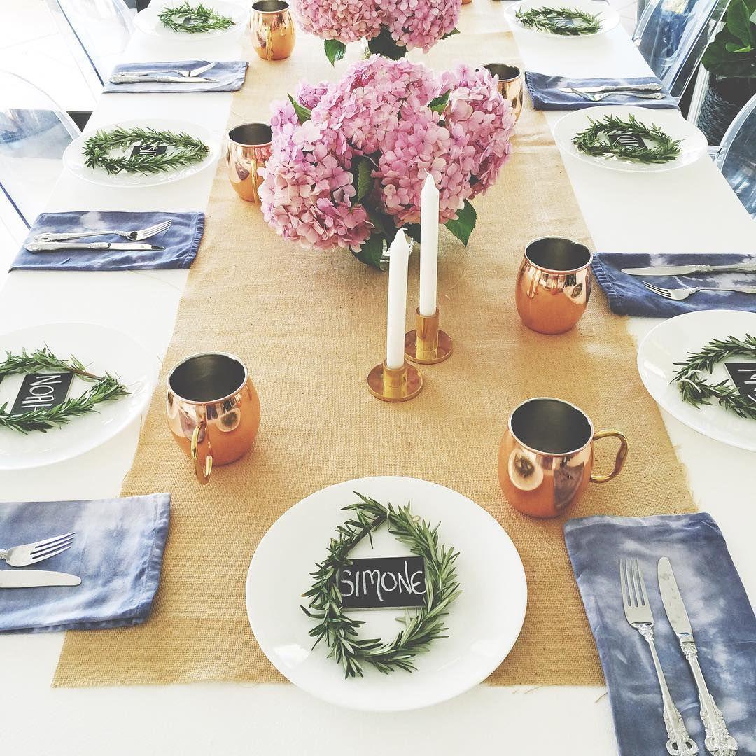 I love setting the table for Christmas Christmas