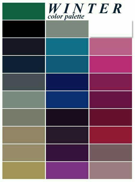 Pin By Vali Corciovă On تناسق الألوان Color Analysis Winter Deep Winter Colors Winter Color Palette