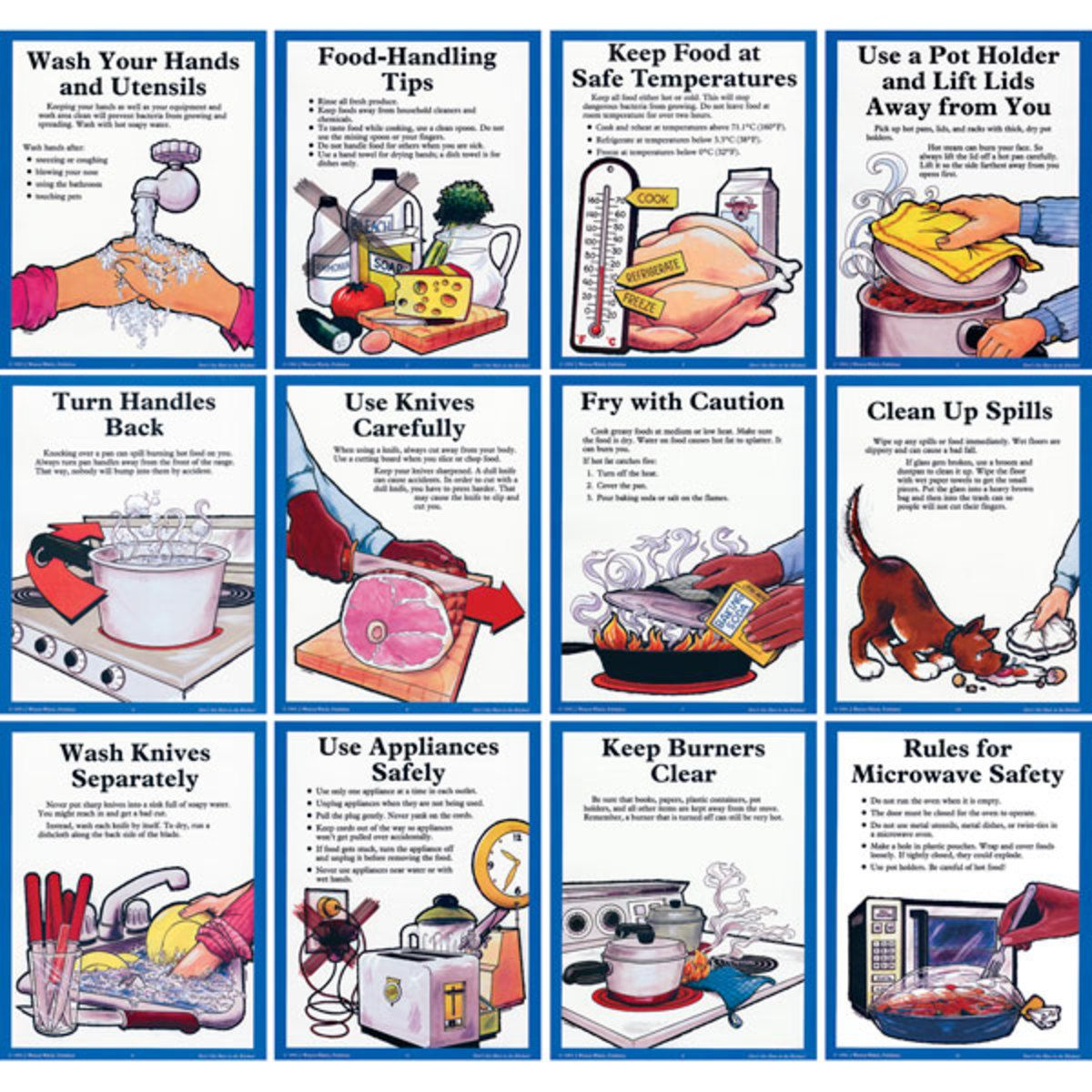 Don T Get Hurt In The Kitchen Posters Wa13926 Nasco Kitchen Safety Food Safety And Sanitation Kitchen Safety Rules
