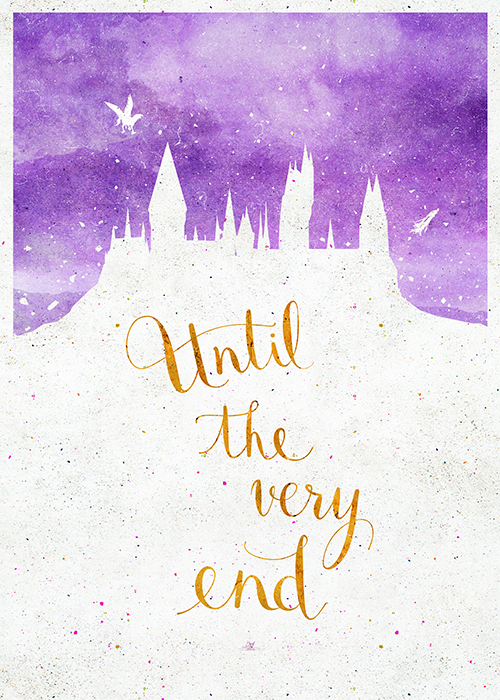 Harry Potter Posters X Until The Very End By Earthlightened Society6 Shop Art Prints P Harry Potter Poster Harry Potter Wallpaper Harry James Potter