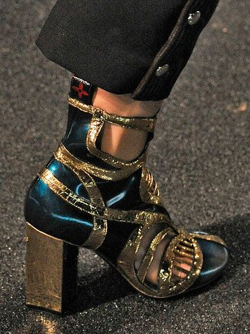 Glam-Rock Ankle Boots at Louis Vuitton/2014