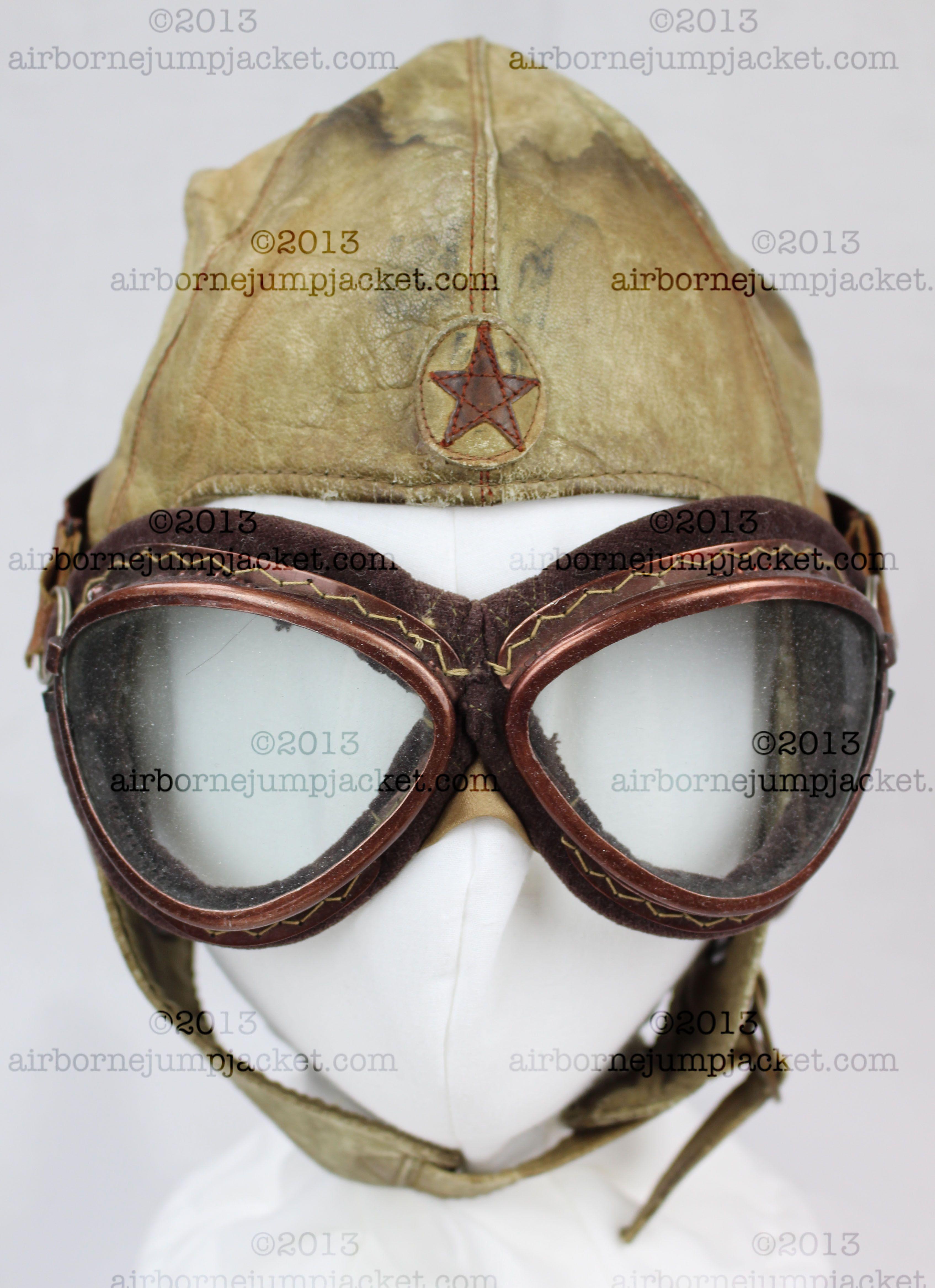 f970dd088824 japanese flight helmet front ww2