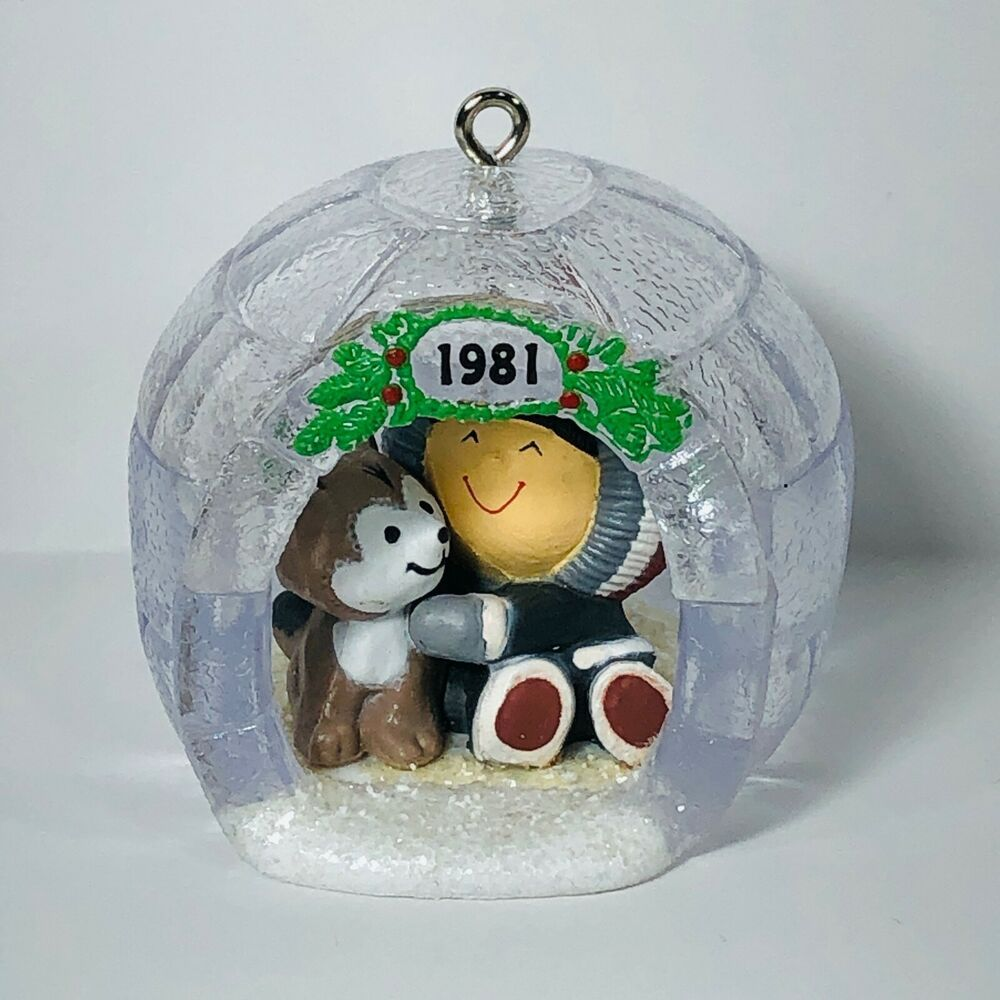 Vtg 1981 Hallmark Keepsake Ornament Frosty Friends 2nd In Series Eskimo Igloo In 2020 Hallmark Ornaments Hallmark Keepsake Ornaments Vintage Christmas