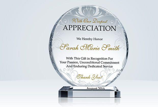 appreciation awards - Opucukkiessling