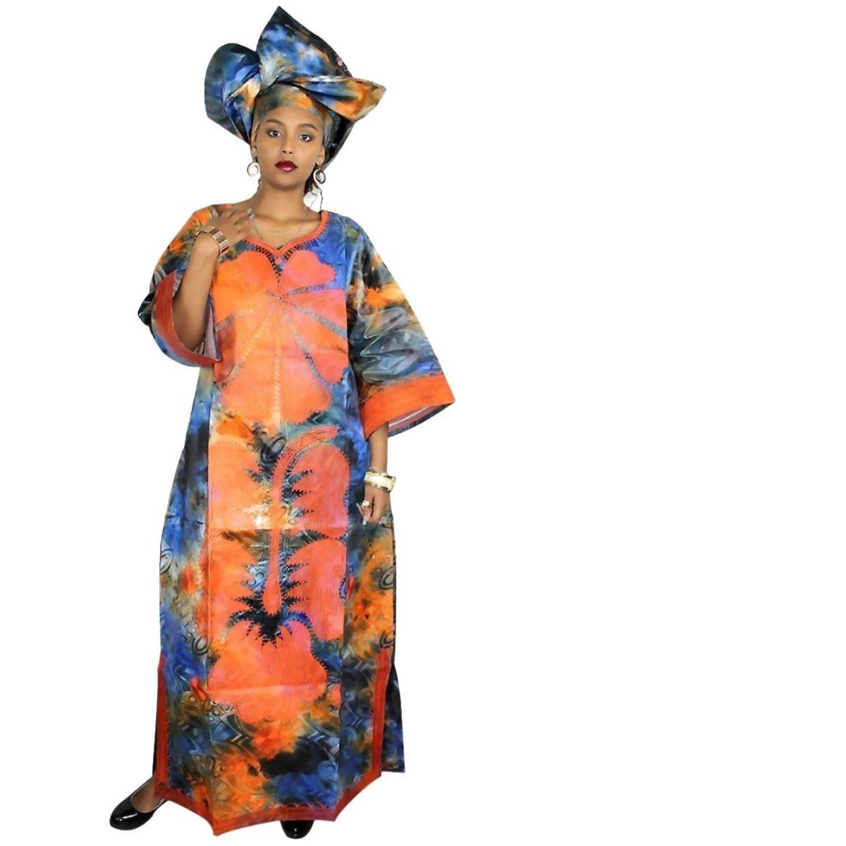 African clothing for women embroidery bazin long dress design with
