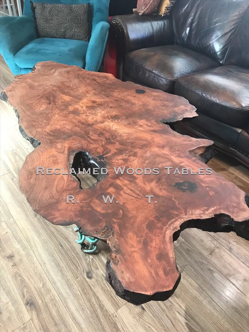 Slab Coffee Table With Tree