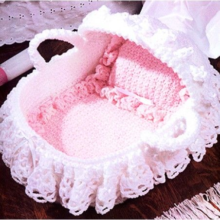 Crochet Baby Cradle Purse Pattern : Doll Bassinet Crochet ePattern Crochet and Dolls