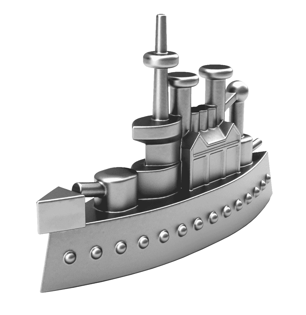 Ship game piece from Monopoly party theme event Theme
