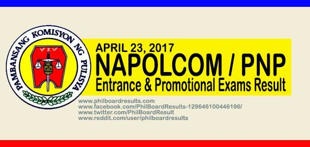 LIST OF PASSERS: April 2017 Napolcom PNP Promotional Exam Results