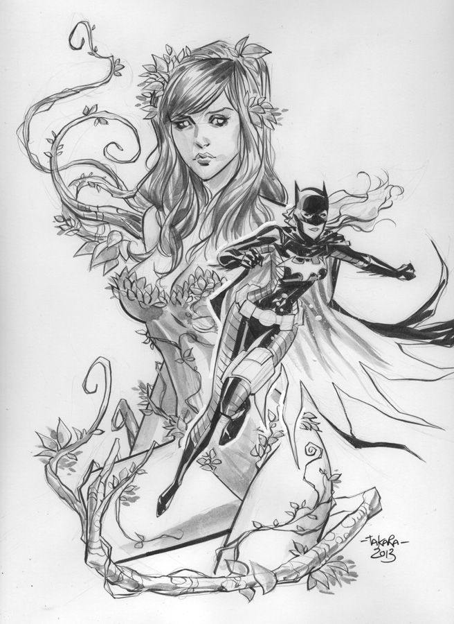 Nycc 2013 Sketch Poison Ivy Batgirl Inks By