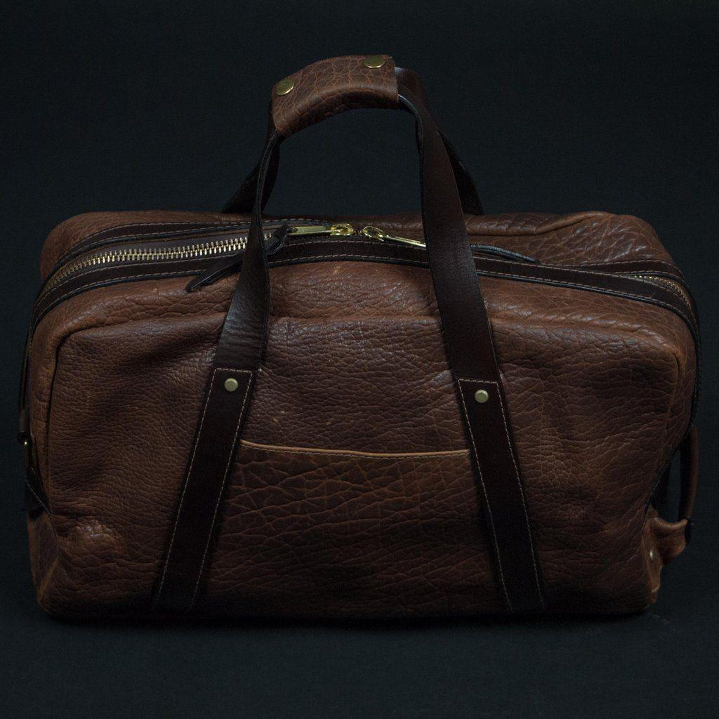 Coronado Bison Leather Weekend Duffle Saddle The Lodge 1 Duffel Bag