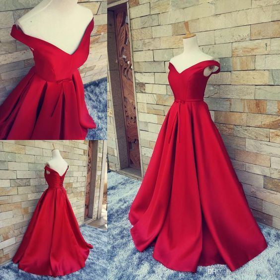 Prom dress 2016, Pretty Wine Red off Shoulder Long Prom Dress, Ball Gown, Wine…