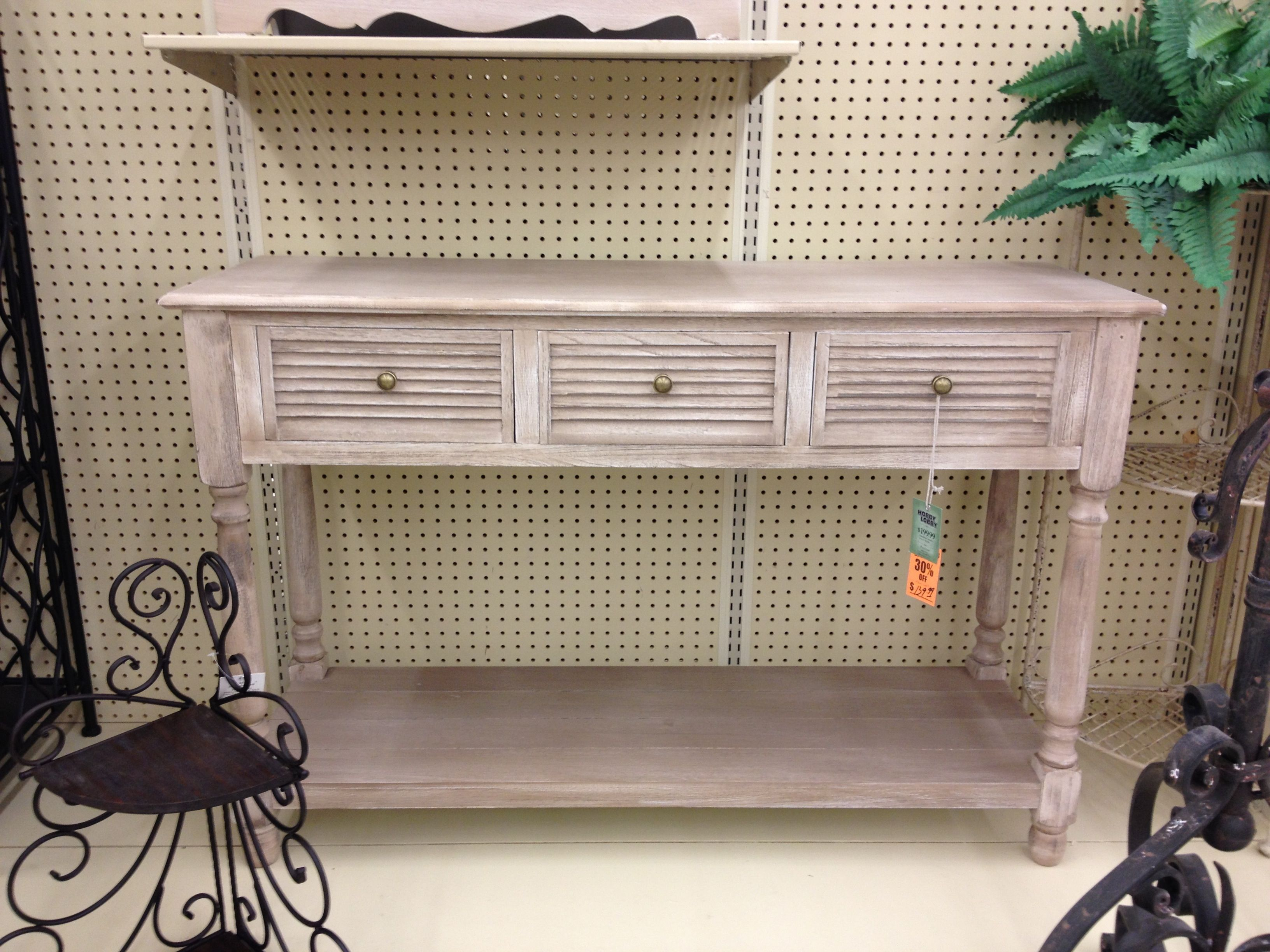 Pair of console tables $200 each on sale for $140 each hobby lobby