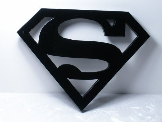 Superman Wood Logo Shield Wall Art or Key Holder Solid Pine 10.5  x 8  Irregular & Superman Wood Logo Shield Wall Art or Key Holder Solid Pine 10.5