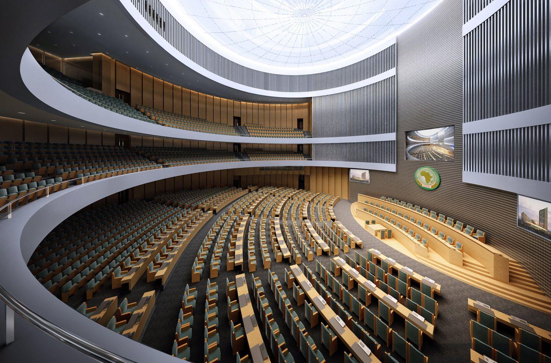 Auditorium room 029 3D Model- The Design of the interior