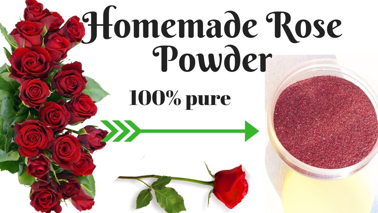 Homemade Rose Petal Powder 100 Natural Diy Rose Powder For Glowing Fair Skin Avni Rosepowder Glowingskin Fair Diy Roses Fresh Rose Petals Rose Petals