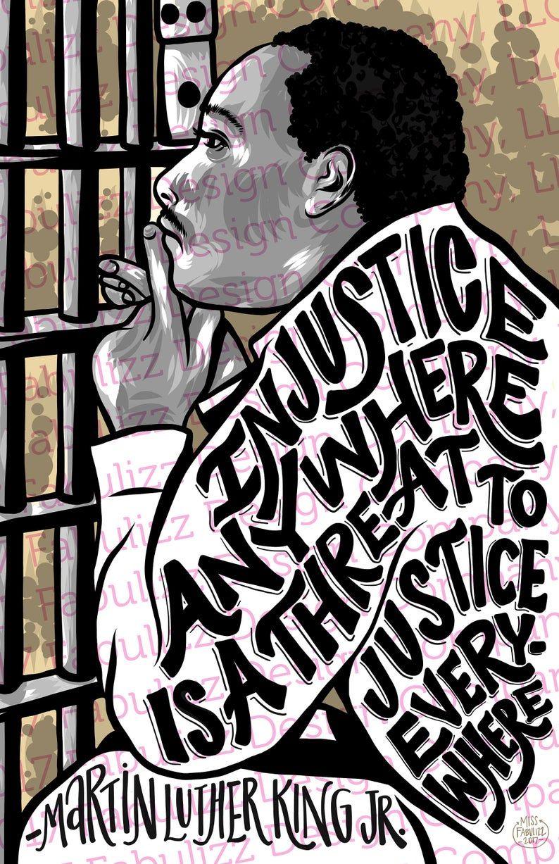 Martin Luther King, Jr. Injustice - Illustration - Digital Art - 11 x 17