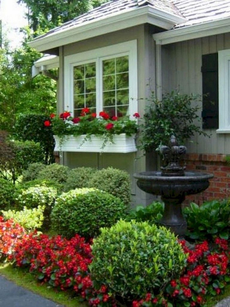 63+ Lovely Small Front Yard Landscaping Ideas #yardart # ...