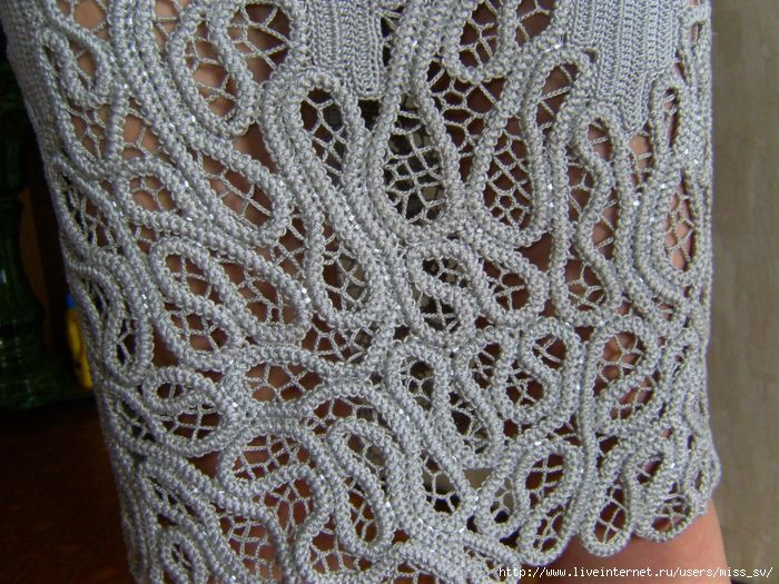 Romanian Point Lace Crochet - dress details