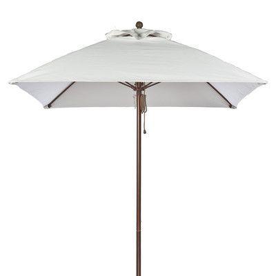 Frankford Umbrellas 6.5' Square Market Umbrella Pole Type: Bronze Coated Aluminum Pole, Fabric: White